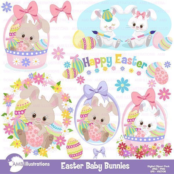 Easter Bunny clipart Clipart AMBillustrations    Mygrafico