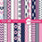 Nautical papers in pink, Coastal papers in pink  AMBillustrations    Mygrafico