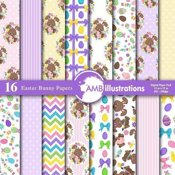 Easter Bunny Papers  AMBillustrations    Mygrafico