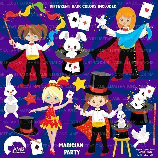 Magic Show Clipart  AMBillustrations    Mygrafico