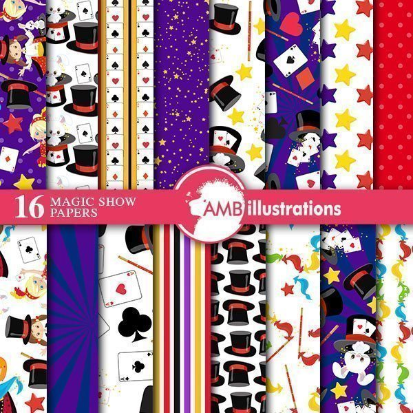 Magic Digital Papers  AMBillustrations    Mygrafico
