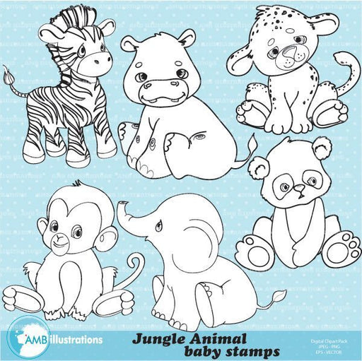 Jungle baby Stamps  AMBillustrations    Mygrafico