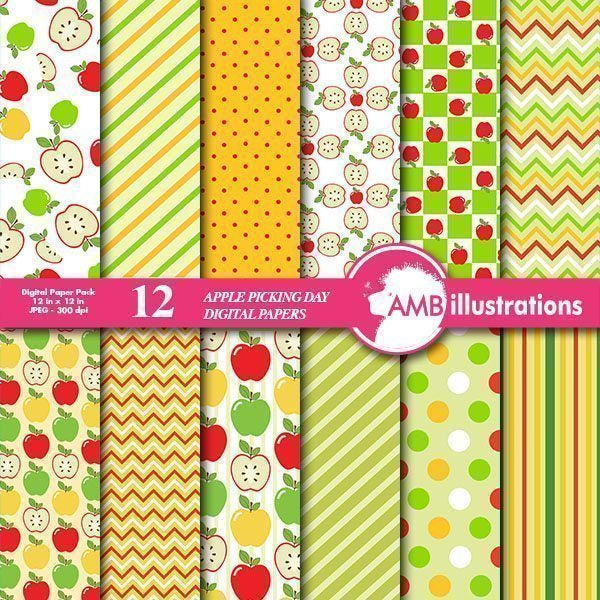 Apple digital papers  AMBillustrations    Mygrafico
