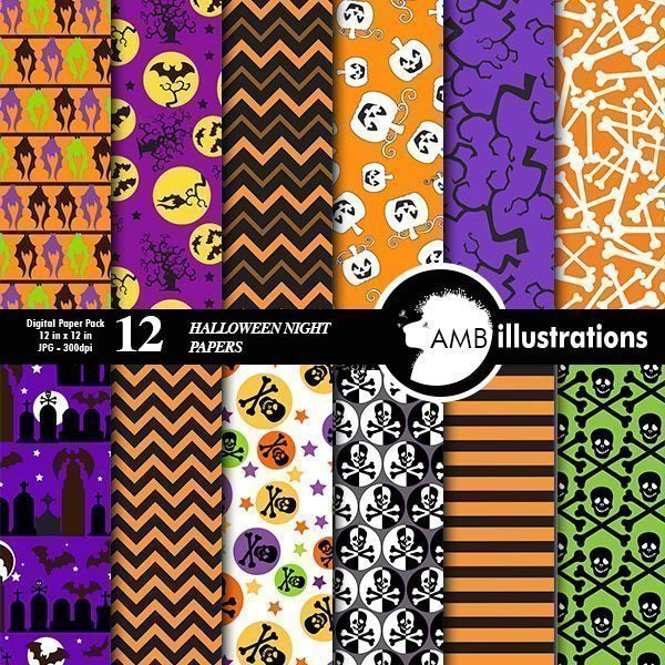 Halloween papers  AMBillustrations    Mygrafico