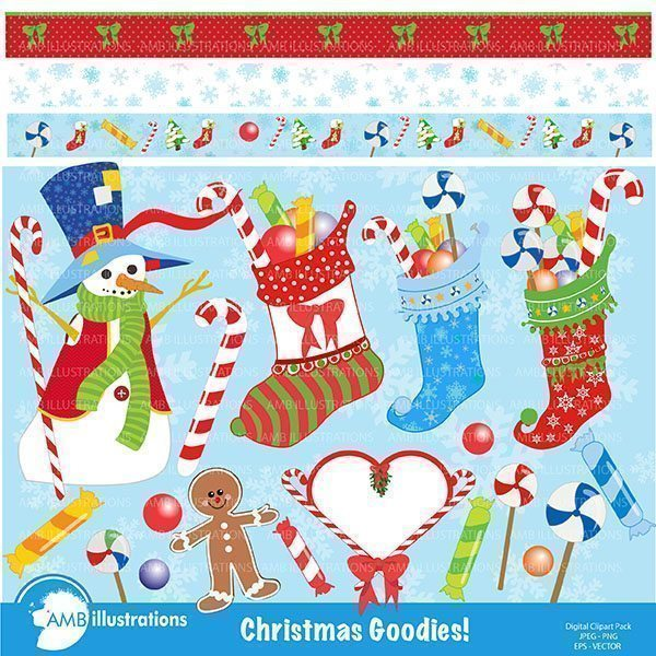 Christmas Goodies Clipart  AMBillustrations    Mygrafico