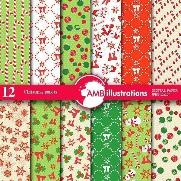 Christmas Eve Papers  AMBillustrations    Mygrafico