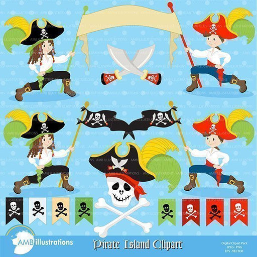 BAND OF PIRATES clipart AMBillustrations    Mygrafico