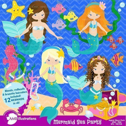 Mermaidseaparty  AMBillustrations    Mygrafico