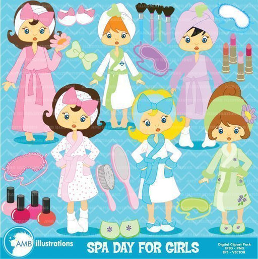Spa Girls Clipart  AMBillustrations    Mygrafico