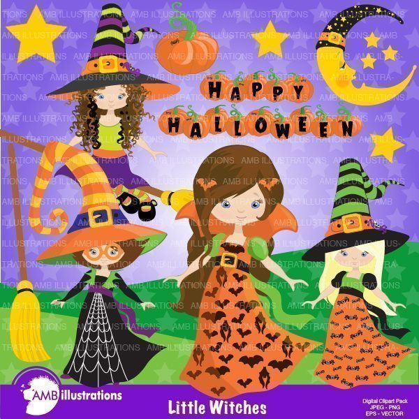 Little Witches  AMBillustrations    Mygrafico