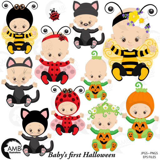 Halloween clipart, baby's first halloween  AMBillustrations    Mygrafico