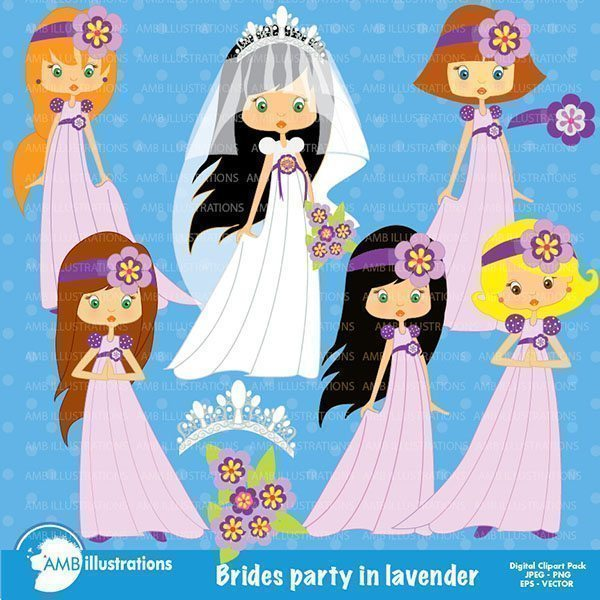 Bridal Party Clipart  AMBillustrations    Mygrafico