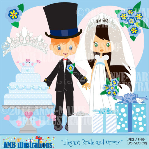 Bride and groom clipart Cliparts AMBillustrations    Mygrafico