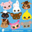 Farm animal faces clipart  AMBillustrations    Mygrafico