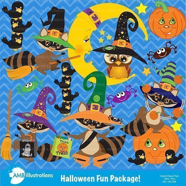 Halloween clipart package  AMBillustrations    Mygrafico