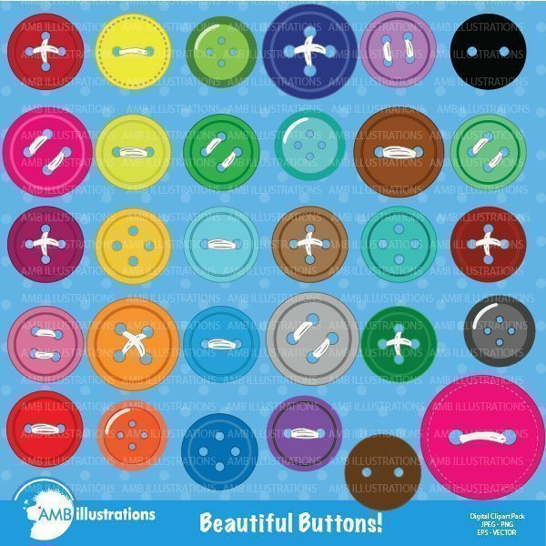 Beautiful Buttons clipart  AMBillustrations    Mygrafico