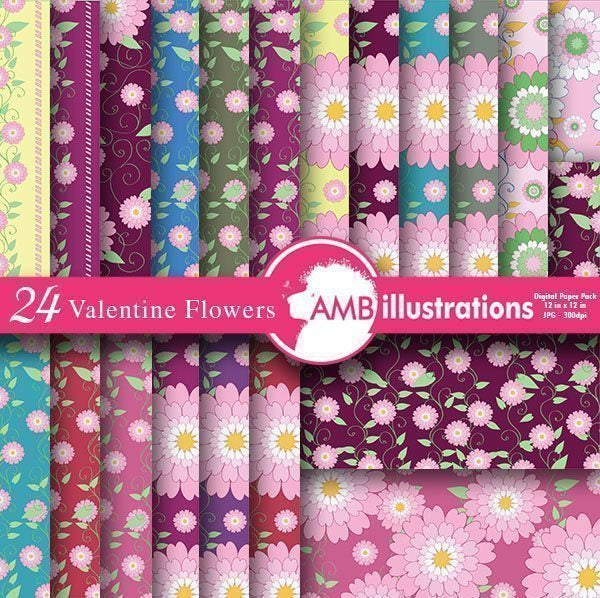 Floral background papers  AMBillustrations    Mygrafico