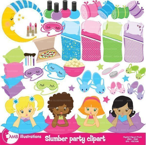 Slumber party 50 clipart mega package!  AMBillustrations    Mygrafico