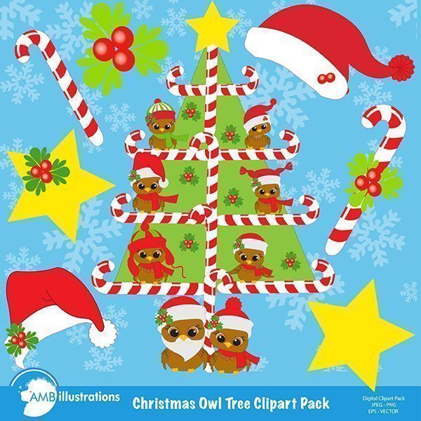 Christmas tree clipart  AMBillustrations    Mygrafico