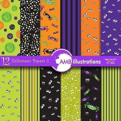 Halloween Papers 2  AMBillustrations    Mygrafico