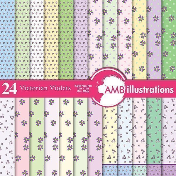 24 Victorian violet paper Digital Papers & Background AMBillustrations    Mygrafico