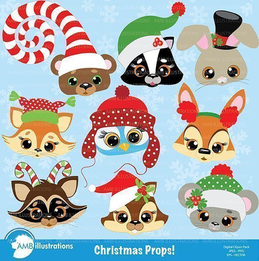 Christmas Critters Clipart  AMBillustrations    Mygrafico