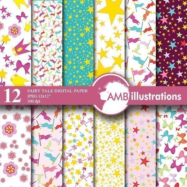 Fairy Digital papers  AMBillustrations    Mygrafico