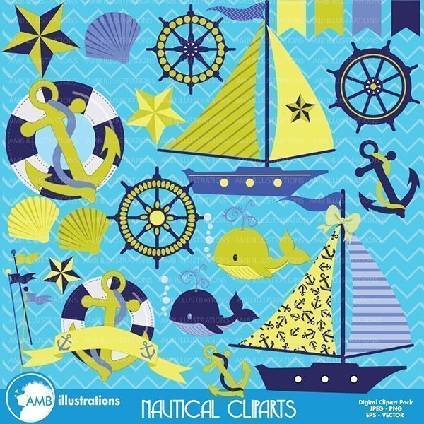 Nautical cliparts  AMBillustrations    Mygrafico