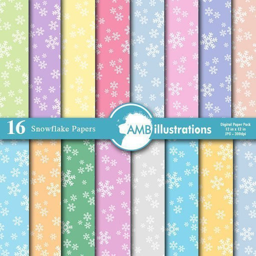 Christmas Snowflake Papers  AMBillustrations    Mygrafico