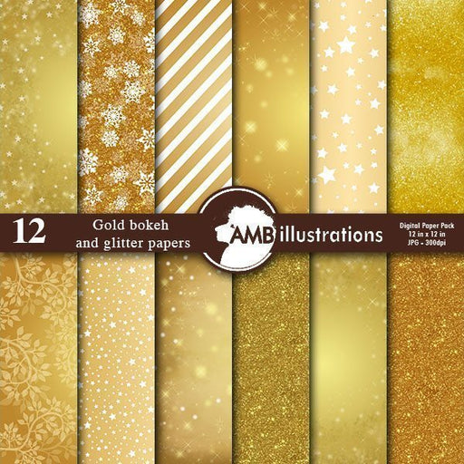 Goldfinger digital papers and backgrounds  AMBillustrations    Mygrafico