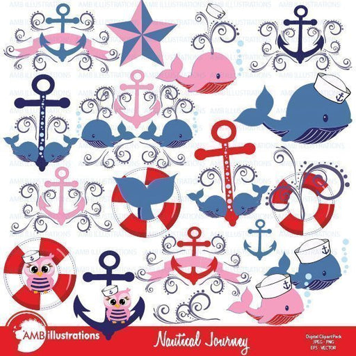 Nautical Journey Cliparts  AMBillustrations    Mygrafico