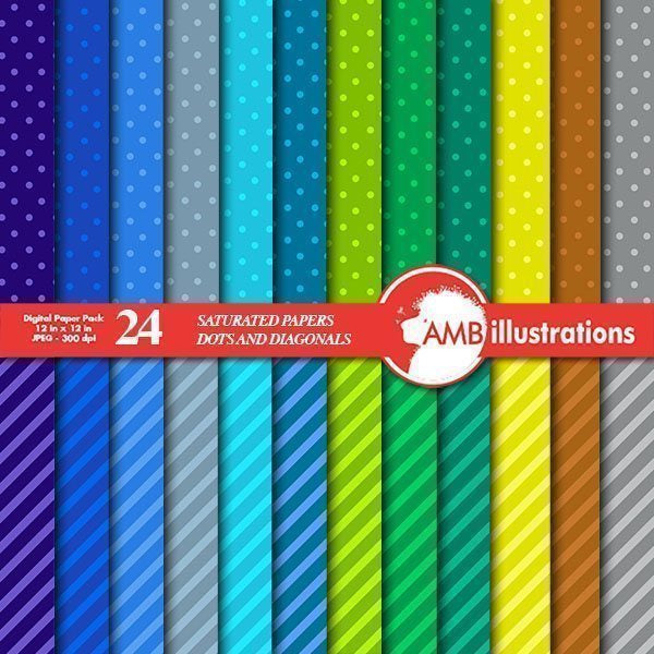 Dark stripes and dots papers  AMBillustrations    Mygrafico