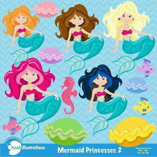 Mermaid Princess  AMBillustrations    Mygrafico