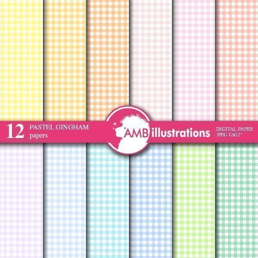 Gingham papers, checkered papers  AMBillustrations    Mygrafico