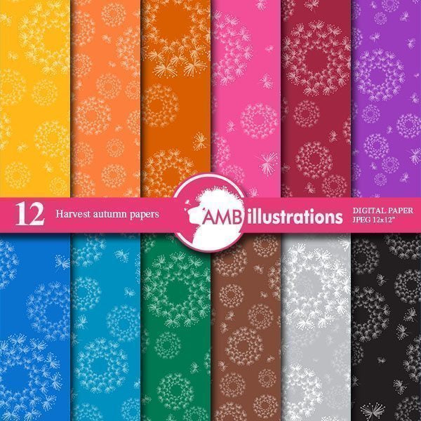 Dandilion rich colored papers  AMBillustrations    Mygrafico