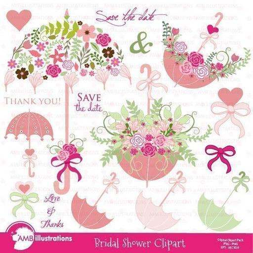 Bridal Shower and Wedding clipart