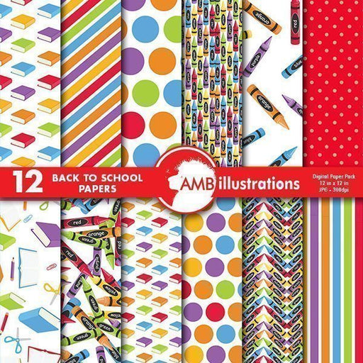 School colorful papers  AMBillustrations    Mygrafico