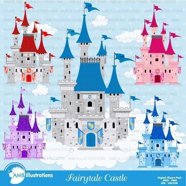 Fairie Castle -princess castle Cliparts AMBillustrations    Mygrafico