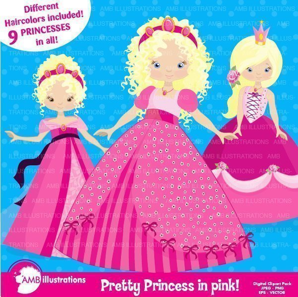 Princesse in pink  AMBillustrations    Mygrafico