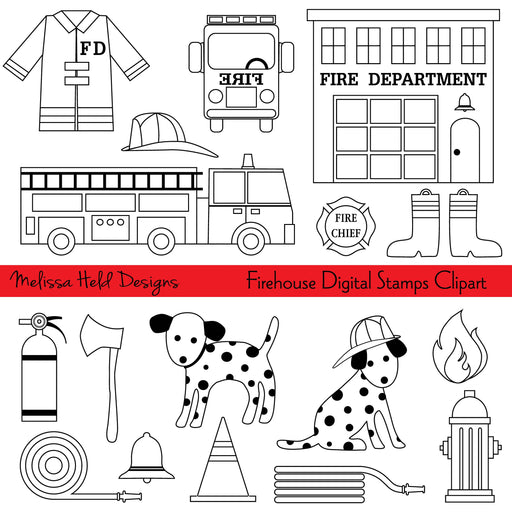 Firehouse Digital Stamps Clipart Digital Stamps Melissa Held Designs    Mygrafico