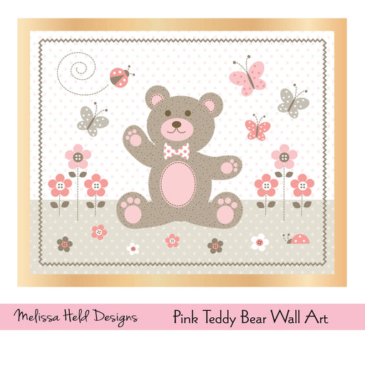 Pink Teddy Bear  Wall Art Digital Paper & Backgrounds Melissa Held Designs    Mygrafico