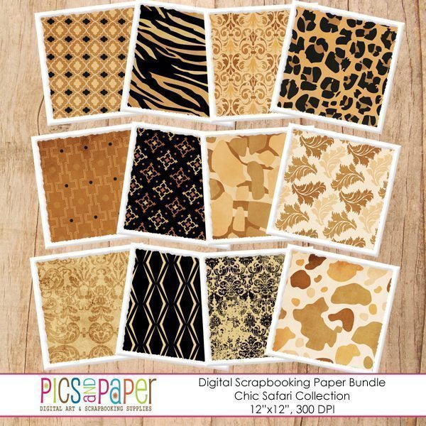 Chic Safari Papers Digital Papers & Background Pics and Paper    Mygrafico