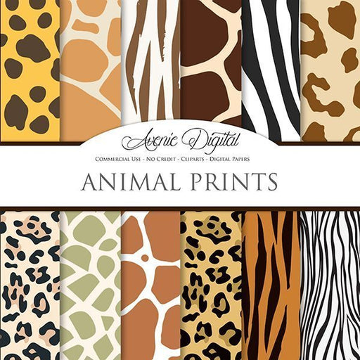 Animal Prints Digital Paper  Avenie Digital    Mygrafico