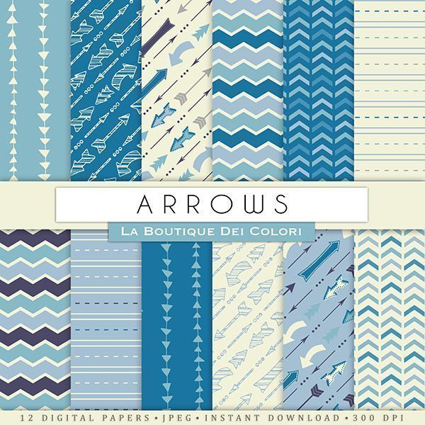 Blue Arrows Digital Papers  La Boutique Dei Colori    Mygrafico