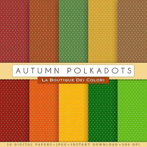 Autumn Polkadots Digital Autumn Papers Digital Paper & Backgrounds La Boutique Dei Colori    Mygrafico