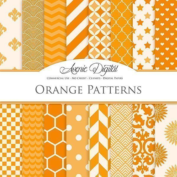 Orange Digital Paper  Avenie Digital    Mygrafico