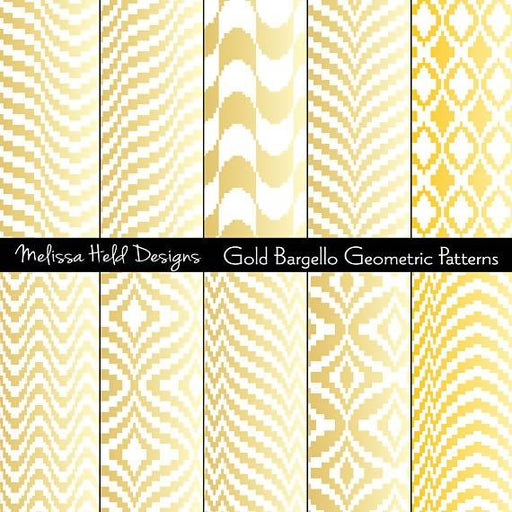 Gold Bargello Geometric Patterns Digital Paper & Backgrounds Melissa Held Designs    Mygrafico