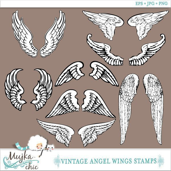 Angel Wings Stamps  Mujka Chic    Mygrafico