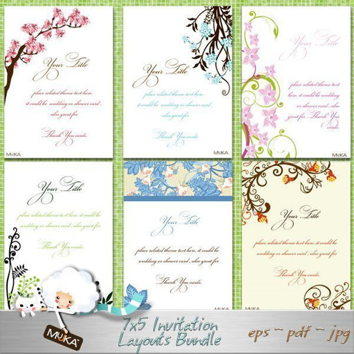 Invitation Bundle 7x5  Mujka Chic    Mygrafico