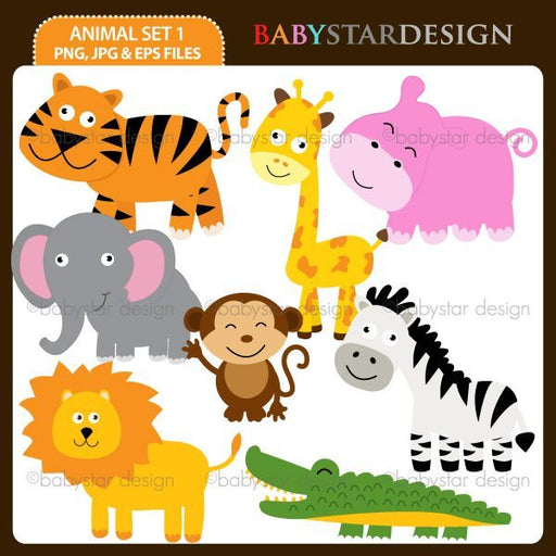 Animal Set 1 by Babystar Design Cliparts Babystar Design    Mygrafico